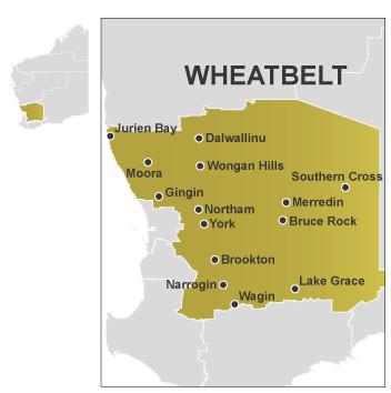 Wheatbelt map